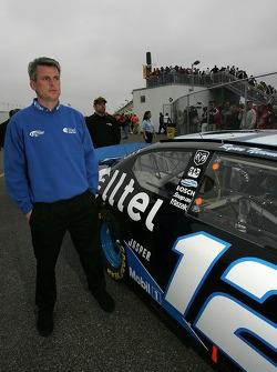 Matt Borland at tech inspection