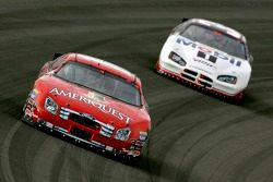 Greg Biffle leads Ryan Newman