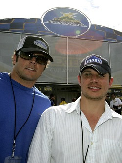 NFL Baltimore Ravens quarterback Kyle Boller and actor singer Nick Lachey