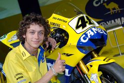 Valentino Rossi avec la 2006 Camel Yamaha M1