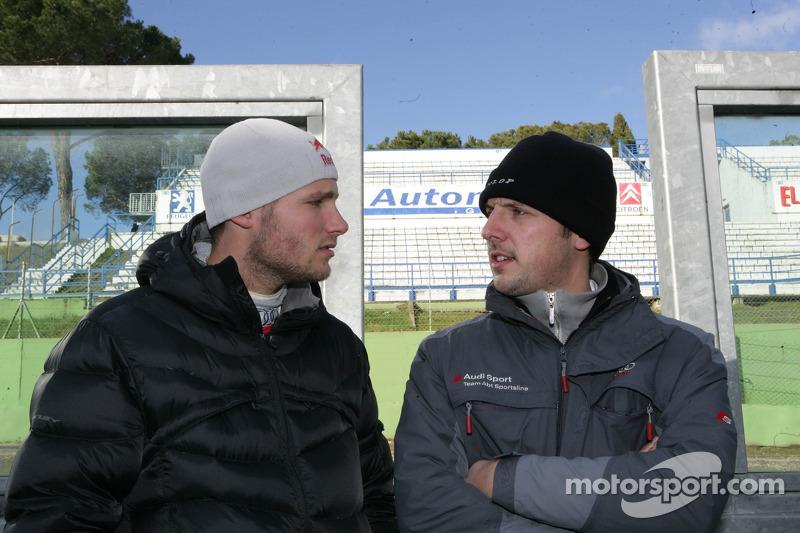 Martin Tomczyk mit Renningenieur Alexander Stehlig, Audi