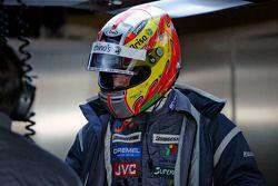 Tiago Monteiro, pilote d'une Midlet F1 à Silverstone pour une séance d'essai
