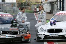 Vanina Ickx, Audi, und Susie Stoddart, Mercedes