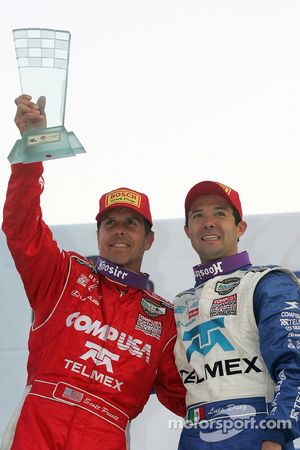 DP podium: class and overall winners Scott Pruett, Luis Diaz celebrate