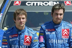 Podio: los ganadores Sébastien Loeb y Daniel Elena