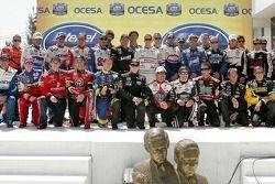 Photo de famille pour les pilotes Busch