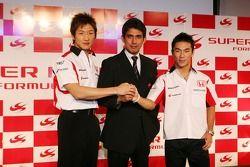 Yuji Ide, Aguri Suzuki and Takuma Sato