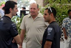 Medios McLaren desayuno en el Hotel Ritz: Pedro de la Rosa, Ron Dennis y Juan Pablo Montoya