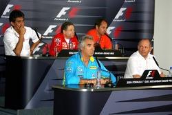 Пресс-конференция FIA: Флавио Бриаторе, Рон Деннис, Агури Сузуки, Жан Тодт и Гехард Бергер