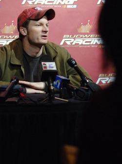 Dale Earnhardt Jr. Tient une conférence de presse à l'hôtel Hard Rock