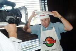 Tracy Hines participates in the first annual Raybestos Rookie cooking Challenge
