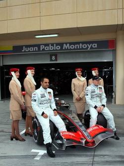 McLaren announces Emirates as a new sponsor: Kimi Raikkonen and Juan Pablo Montoya