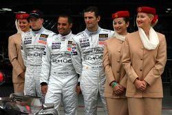 McLaren annonce Emirates comme nouveau sponsor: Kimi Räikkönen, Juan Pablo Montoya et Pedro de la Rosa