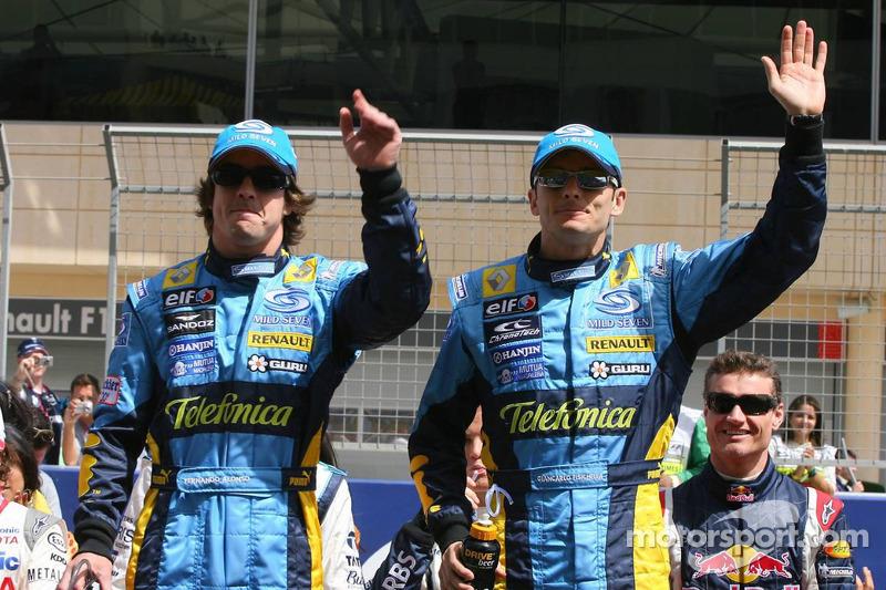 Presentación de pilotos: Fernando Alonso y Giancarlo Fisichella