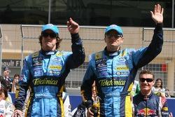 Drivers presentation: Fernando Alonso and Giancarlo Fisichella