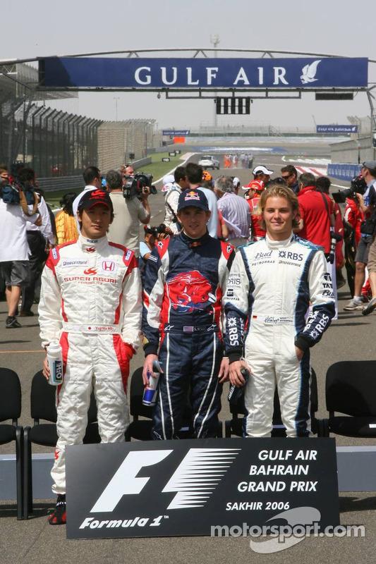 Pilotos debutantes: Yuji Ide, Scott Speed y Nico Rosberg