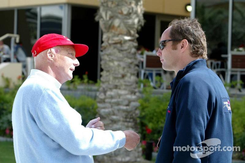 Niki Lauda y Gerhard Berger