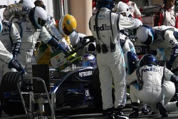 Pitstop for Nico Rosberg