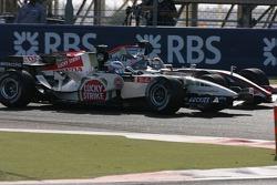 Jenson Button y Juan Pablo Montoya