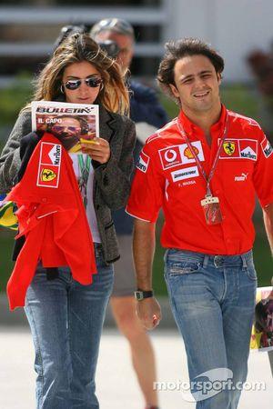 Felipe Massa y novia Rafaela Bassi