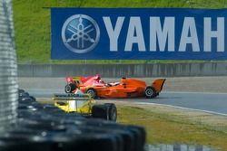 Jos Verstappen de l'équipe des Pays-Bas fait un tête-à-queue