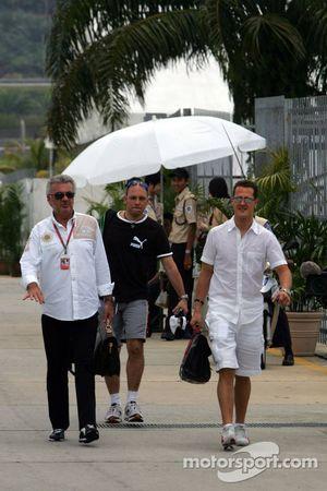 Willi Weber y Michael Schumacher