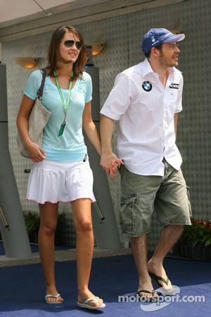 Jacques Villeneuve avec sa nouvelle petite-amie