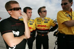 Patrick Long, Romain Dumas and Timo Bernhard