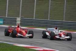 Michael Schumacher y Jarno Trulli