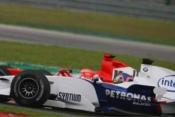 Michael Schumacher y Jacques Villeneuve