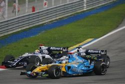Mark Webber, Nico Rosberg et Fernando Alonso