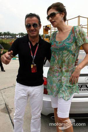 Jean Alesi et Slavica Ecclestone
