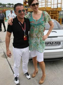 Jean Alesi y Slavica Ecclestone