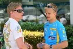Mika Salo et Heikki Kovalainen