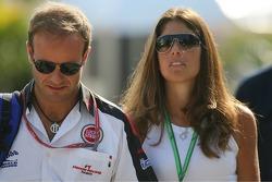 Rubens Barrichello con Silvana