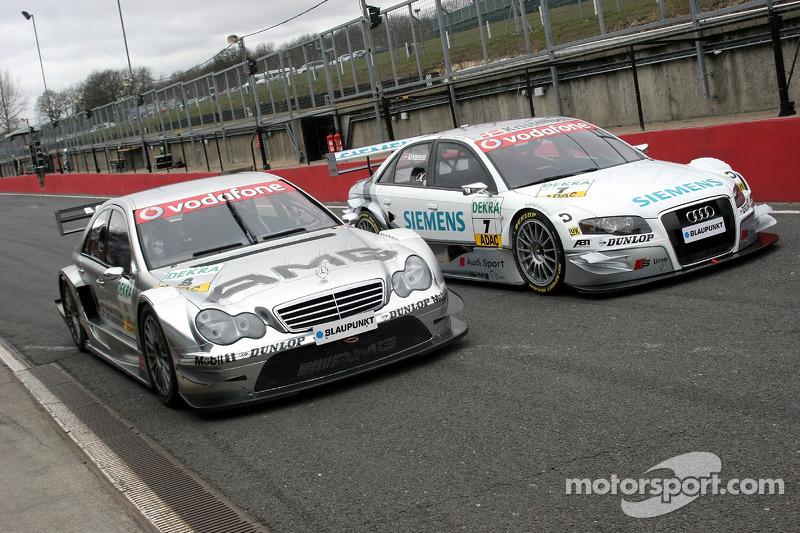 Mika Häkkinen, Mercedes, und Tom Kristensen, Audi