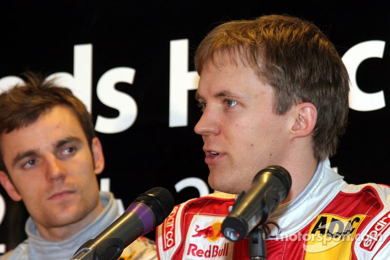 Jamie Green, Mercedes, und Mattias Ekström, Audi