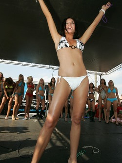 Swimsuit contest: a charming contestant