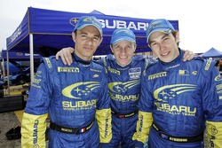 Stéphane Sarrazin, Petter Solberg and Chris Atkinson