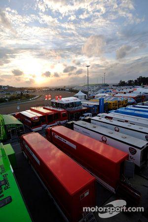 Paddock at Jerez
