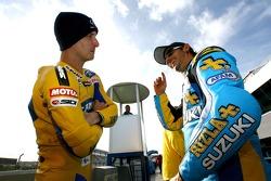 Colin Edwards, Yamaha; John Hopkins, Suzuki
