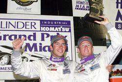 Podium DP: les vainqueurs Mike Rockenfeller et Patrick Long