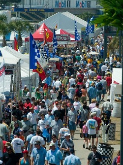 Fans fill the midway