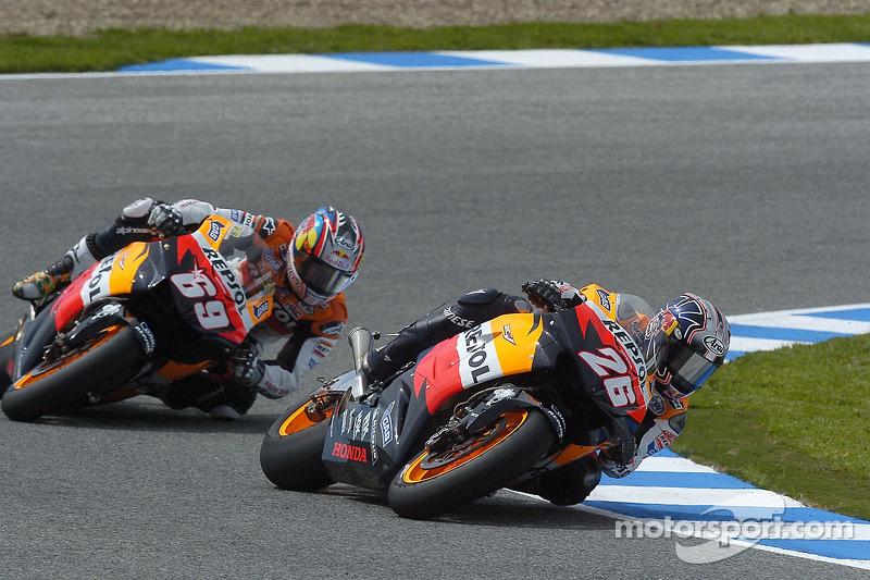 Dani Pedrosa y Nicky Hayden