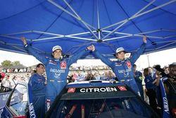 Winners Sébastien Loeb and Daniel Elena celebrate