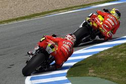Toni Elias, Honda; Marco Melandri, Honda