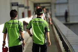 Shinya Nakano, Kawasaki; Randy de Puniet, Kawasaki