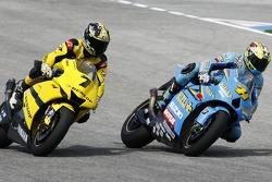 Carlos Checa, Tech 3 Yamaha; Chris Vermeulen, Suzuki