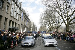 The Audi and Mercedes-Benz safety cars