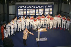 The DTM drivers and cars are presented to the media